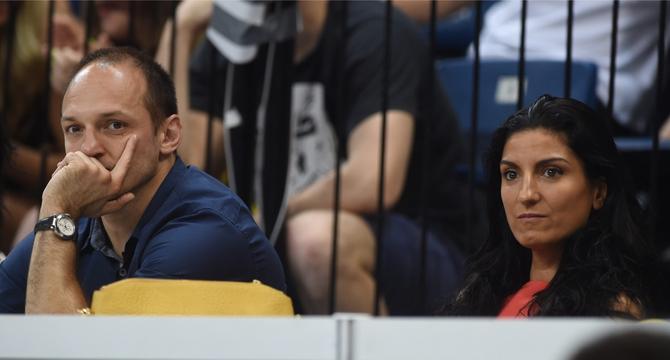 Igor i Ivana Rakočević prošle godine na utakmici u Beogradu