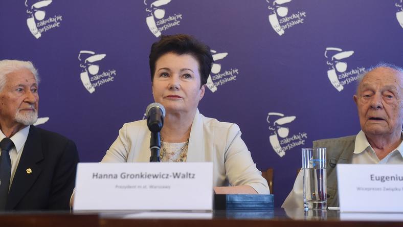 Hanna Gronkiewicz-Waltz w komitecie będzie reprezentowała Platformę Obywatelską