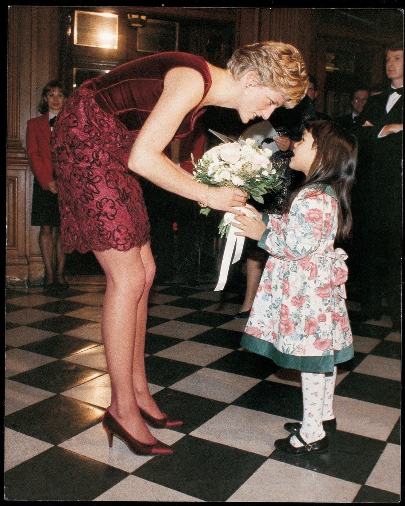 Dajana sa svojom malom obožavateljkom 1991. godine