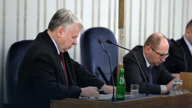 Posiedzenie Senatu. Bogdan Borusewicz i Adam Bielan