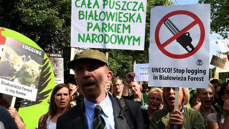 W Krakowie odbyły się protesty w związku z wycinką puszczy