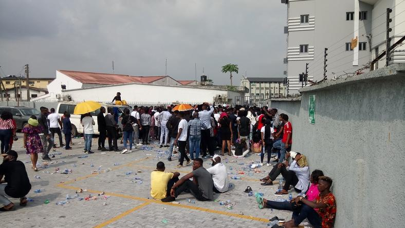 Nigerians at the Big Brother Naija 4 auditions in Lagos on February 1, 2019.