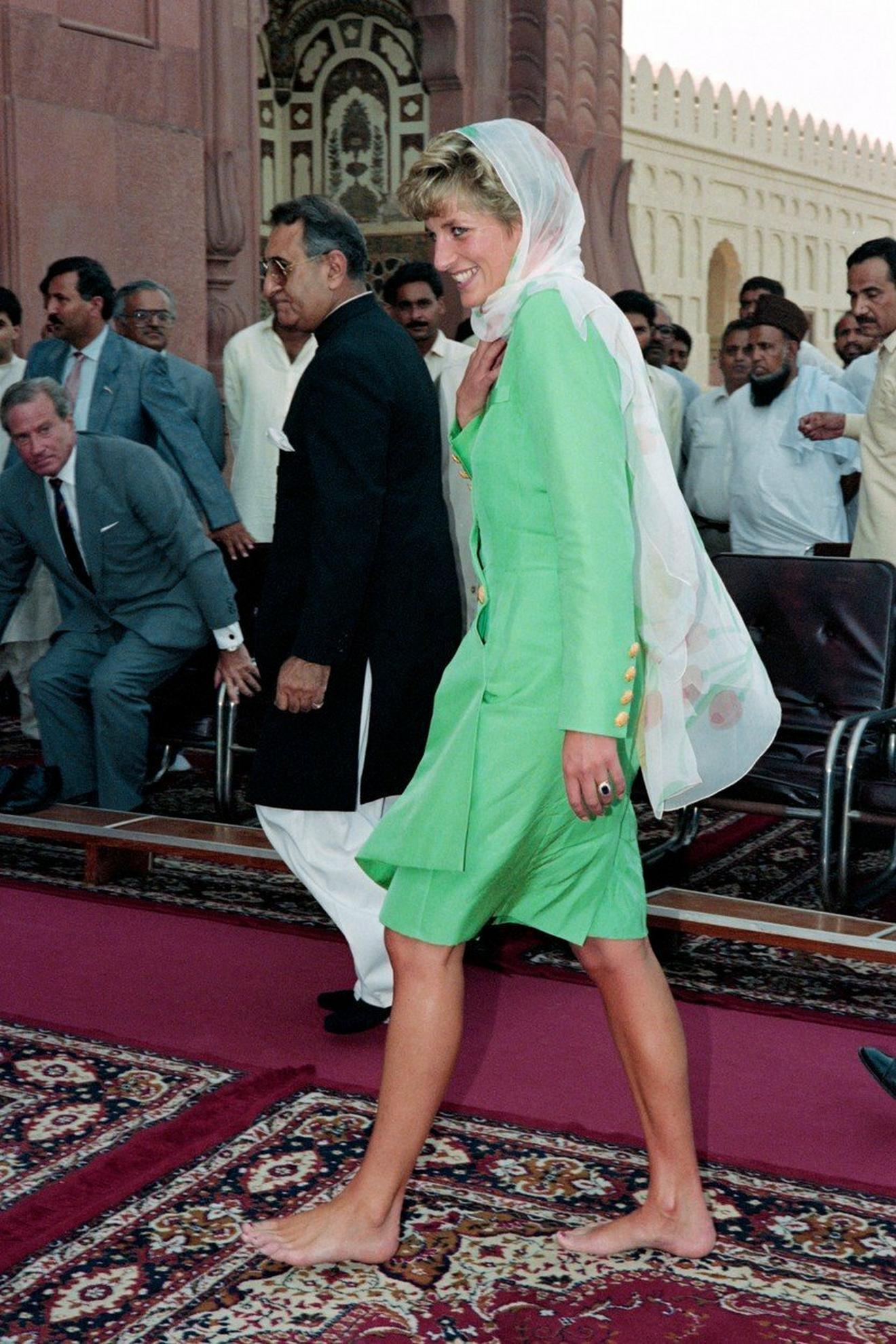 Ledi Di u poseti Pakistanu 1991. godine