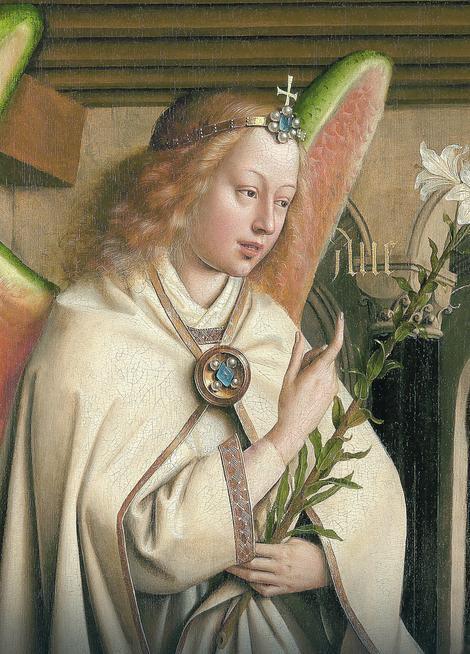 "Anđeo Gavrilo iz scene ""Blagovesti"", posle restauracije Saint Bavo's Cathedral Ghent"