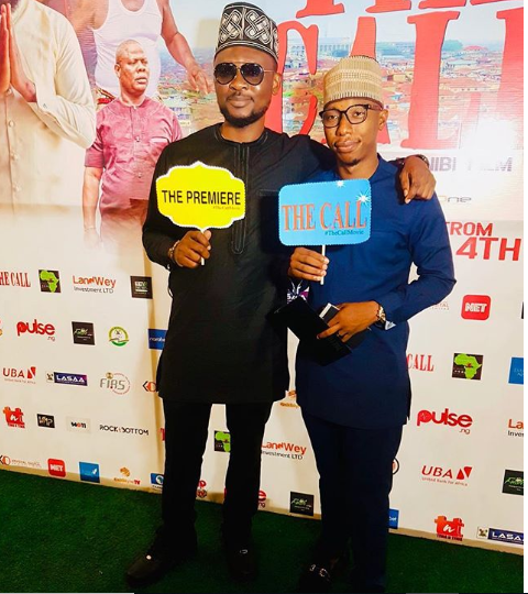 Japeth Omojuwa and a friend at the exclusive premiere of 'The Call'