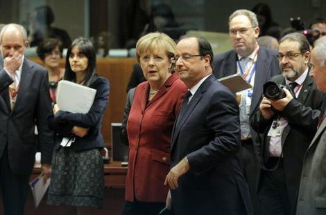 Evropska osovina Berlin-Pariz: Angela Merkel i Fransoa Oland