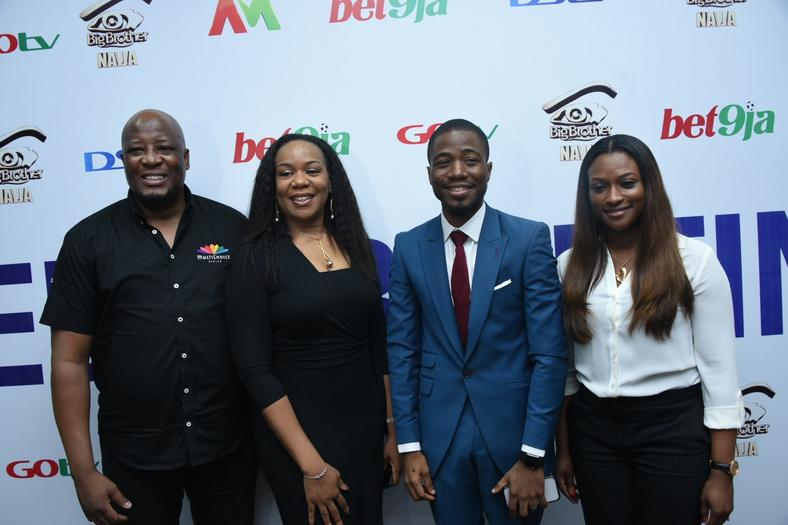 Martin Mabutho, Wangi Mba-Uzoukwu, Olufemi Osobajo and Busola Tejumola at the Big Brother Naija 4 announcement.