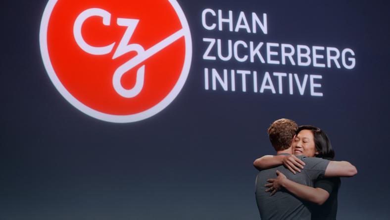 mark Zuckerberg and his żshe Priscilla  Chan