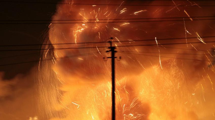 W magazynie amunicji w pobliżu Winnicy w środkowej Ukrainie wybuchł pożar