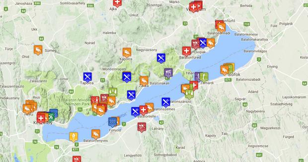 balaton szabadstrandok térkép Végre! Egy térkép a balatoni kutyabarát szálláshelyekhez   Noizz balaton szabadstrandok térkép