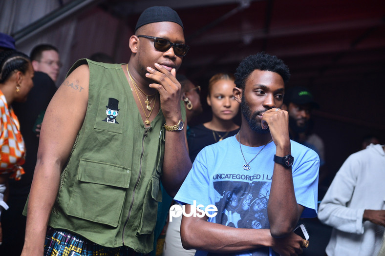Ajebutter22 and Fresh L of DRB Lasgidi at Homecoming 2019. (Pulse Nigeria)