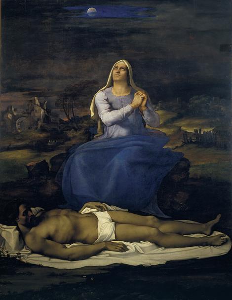 Sebastijano del Pjombo, Oplakivanje mrtvog Hrista (Pijeta), oko 1512-16.
