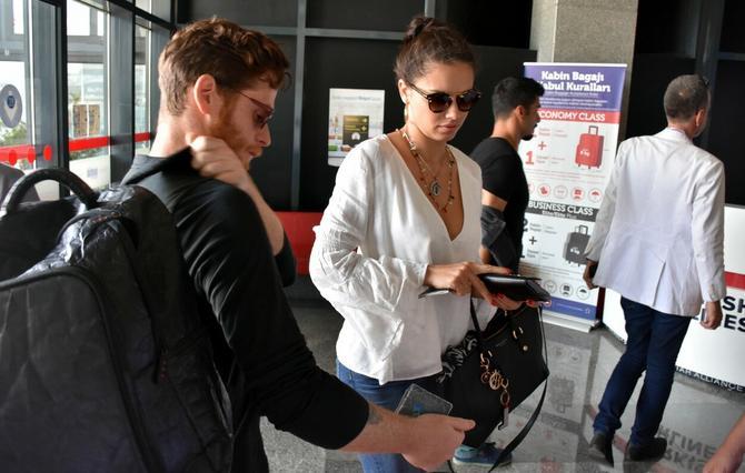 Adrijana Lima i Metin Hara pre nekoliko dana na aerodromu u Bodrumu