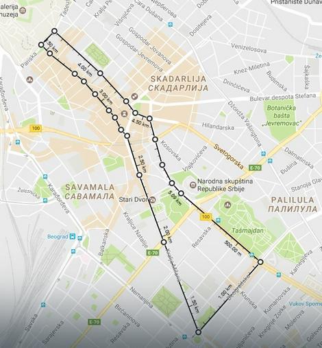 Trasa protestne šetnje