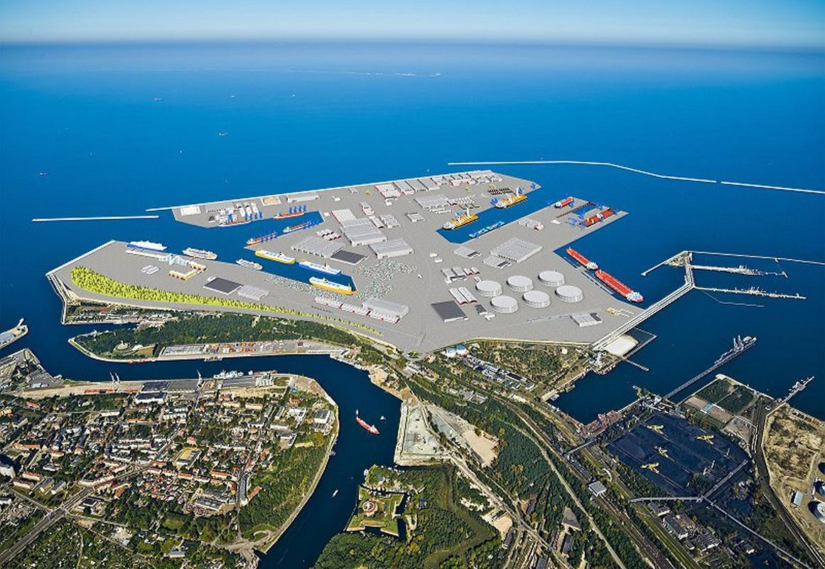 Centralny Port w Gdańsku - wizualizacja
