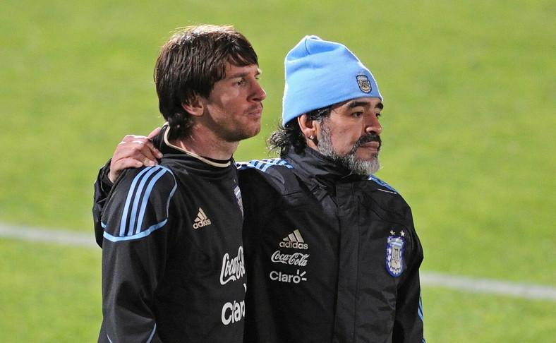 Lionel Messi i Diego Maradona