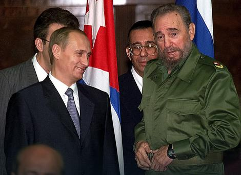 Vladimir Putin i Fidel Kastro