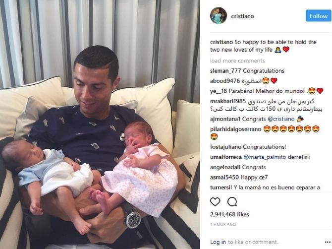 Prva Ronaldova slika sa BLIZANCIMA: Ova slika vredi više od svih njegovih trofeja!