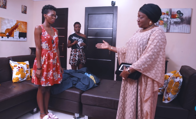 Kari, Ladi and Dame in a scene from episode 7 of web series, 'Man of her dreams.' [YouTube/Bukafedgeeks]