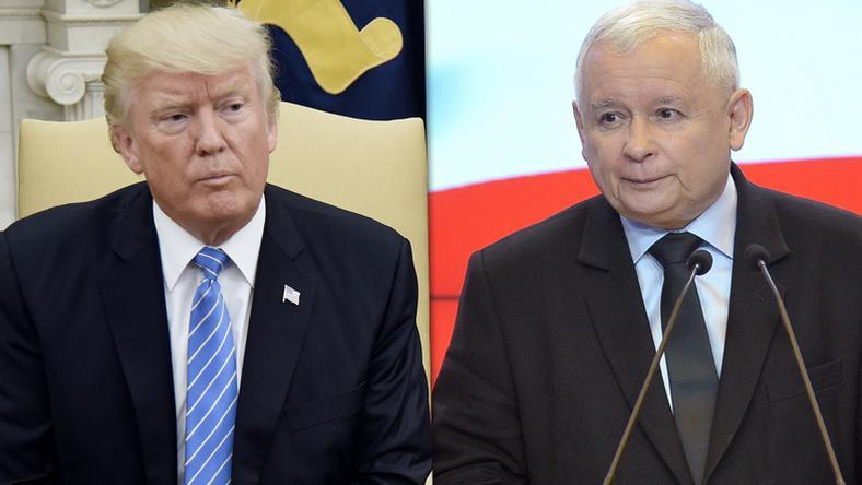 Donald Trump i Jarosław Kaczyński