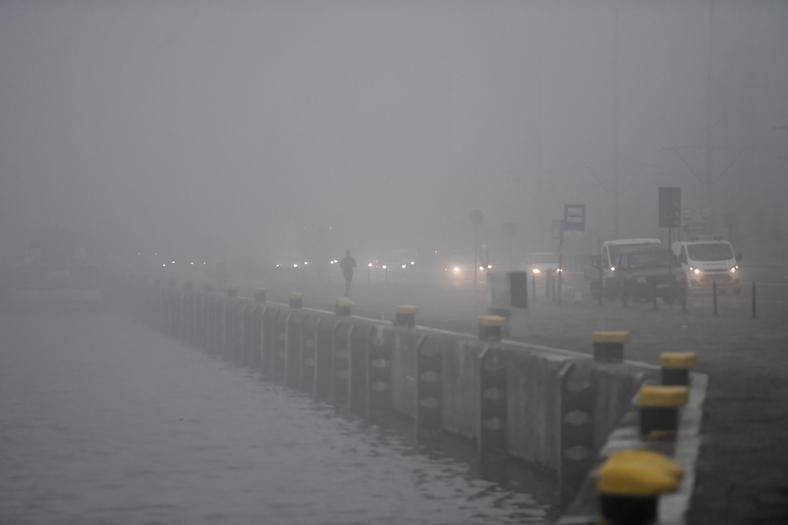 Fog in Szczecin