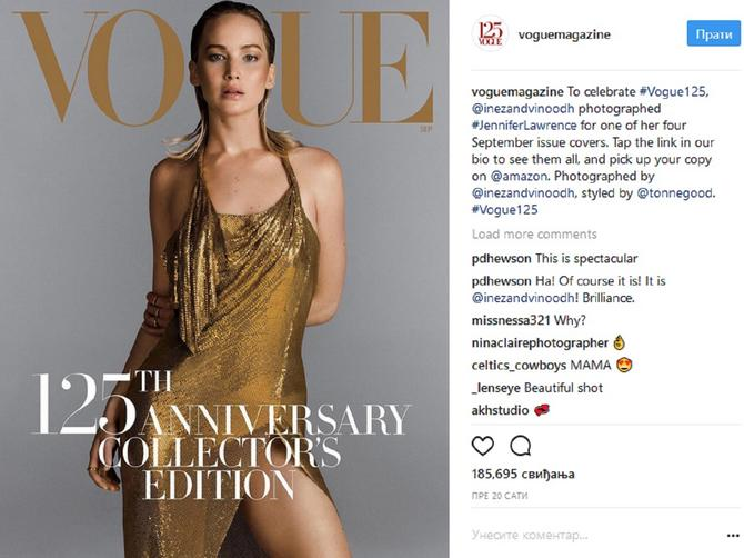 ONA je prva glumica koja će dvaput krasiti naslovnicu NAJVAŽNIJEG izdanja Voga, ali nisu svi srećni zbog toga