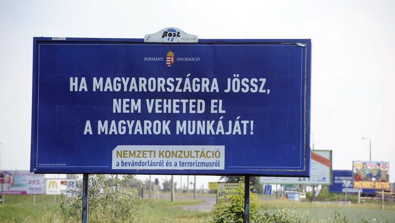 Kormányzati kampány a menekültek ellen / Fotó: MTI - Máthé Zoltán