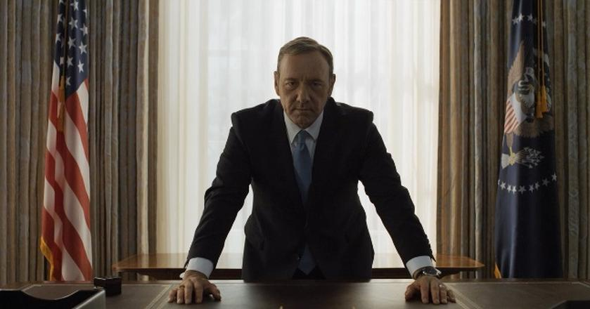 "Kadr z serialu ""House of Cards"""