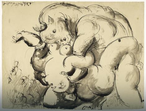 Minotaur otima ženu, 1933.