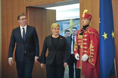 Aleksandar Vučić i Kolinda Grabar-Kitarović