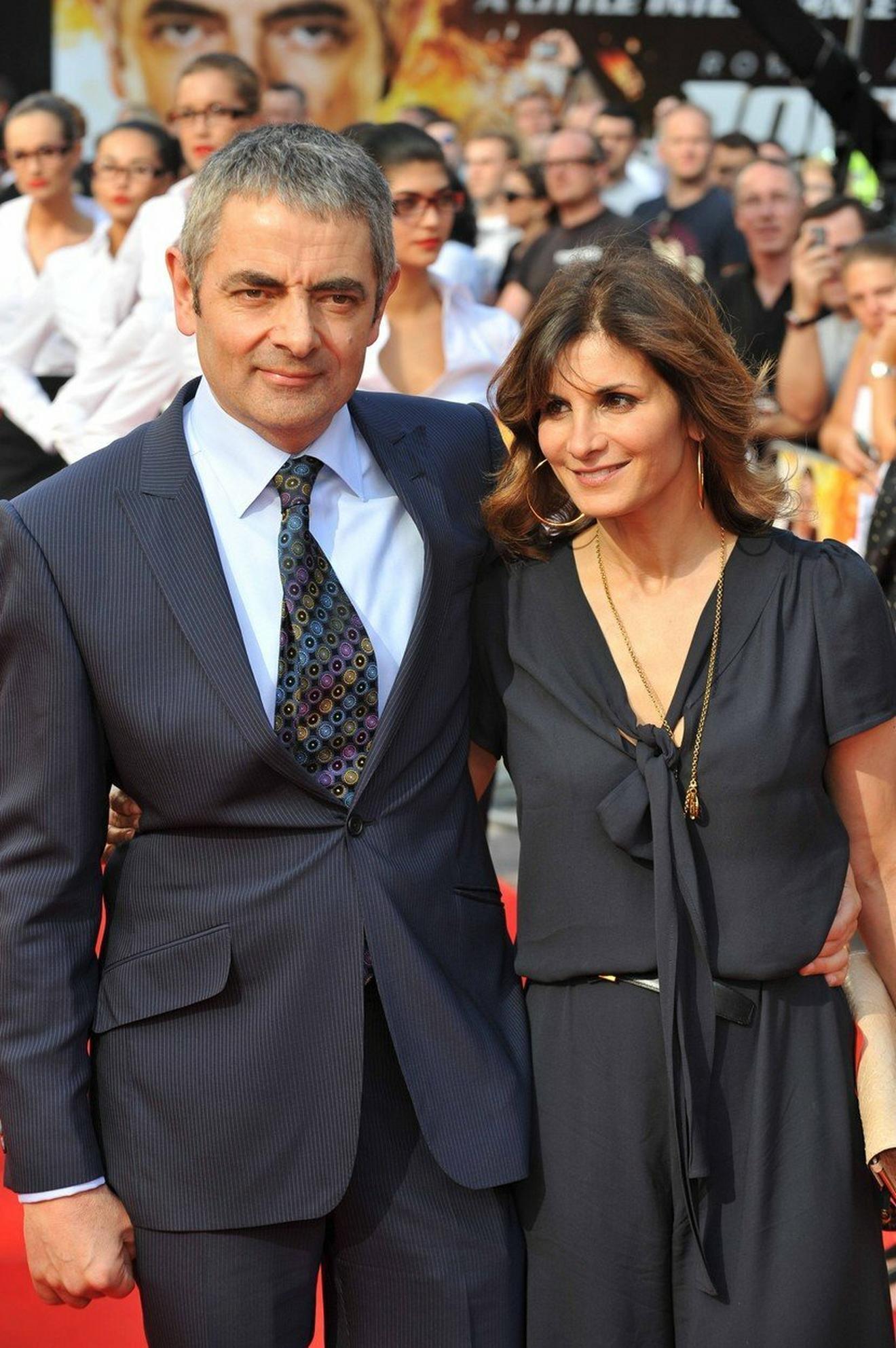 Jedno od poslednjih javnih pojavljivanja glumca i njegove prve supruge: SAnetri Sastri i Rouan Atkinson na premijeri filma