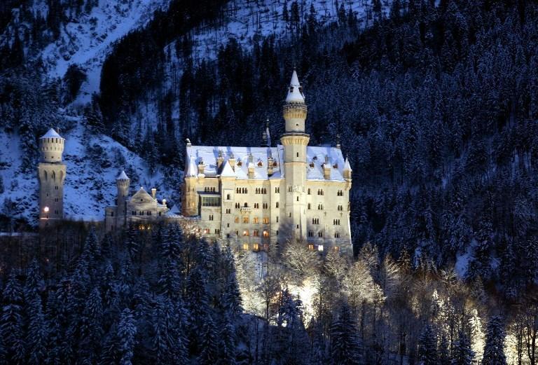 Zamek Neuschwanstein zimą