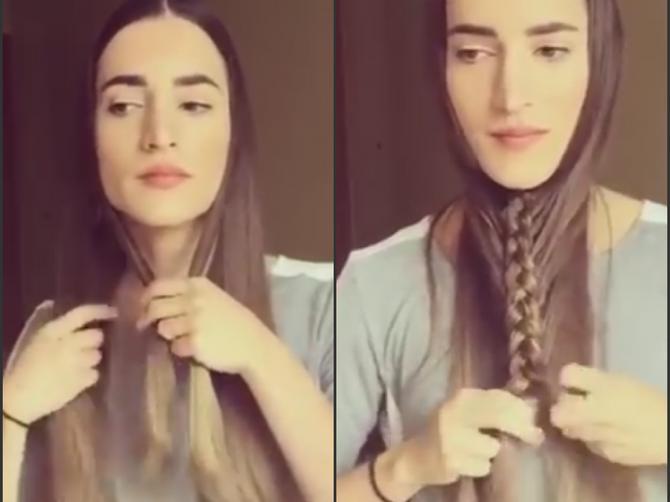 Možda deluje smešno, ali posle minut je dobila SAVRŠENU frizuru!