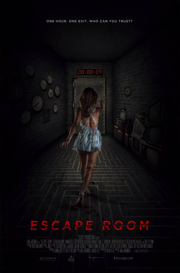 "Plakat horroru ""Escape Room"""