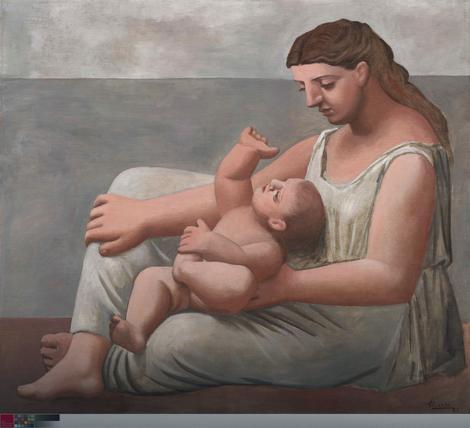 Pablo Pikaso, Majka i dete na obali, 1921.