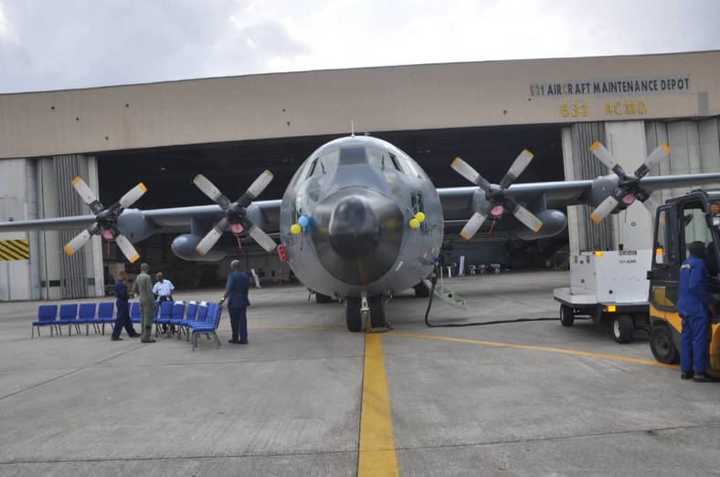 NAF completes 1st successful in-country PDM of C-130H aircraft [Twitter/@CAS_AMSadique]