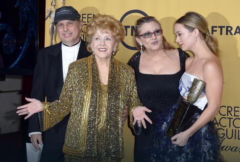 Tod Fišer, Debi Rejnolds, Keri Fišer i Kerina ćerka Bili Lord