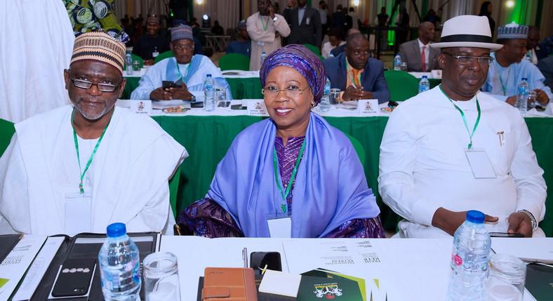 L-R: Adamu Adamu, Mariam Katagum and Timipre Silva have been sworn in as ministers for President Muhammadu Buhari's second term [Presidency]