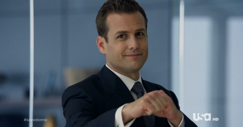 "Harvey Specter z serialu ""W Garniturach"""