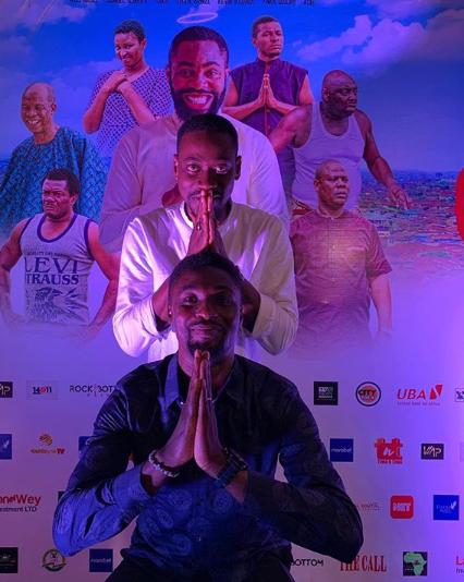 Abdul-Lateef Adedimeji and Adeniyi Johnson at exclusive premiere of 'The Call'