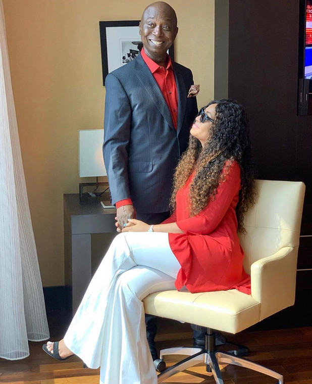 Regina Daniels and her wealthy husband, Prince Ned Nwoko strike a pose as he gets a verified Instagram account. [nstagram/greatprincened]