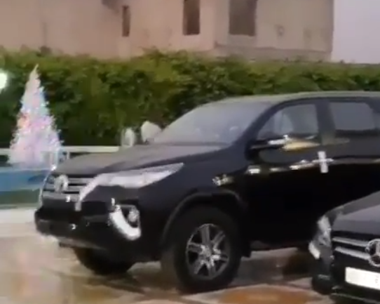 Watch video of Nam1's luxury cars inside his Trasacco mansion
