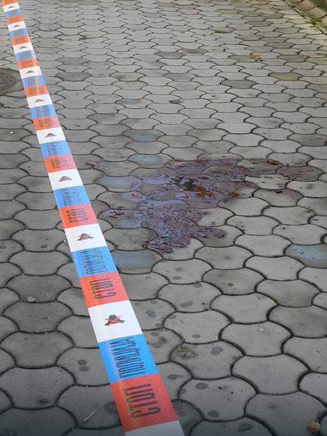 Na mestu zločina ostali su veliki tragovi krvi