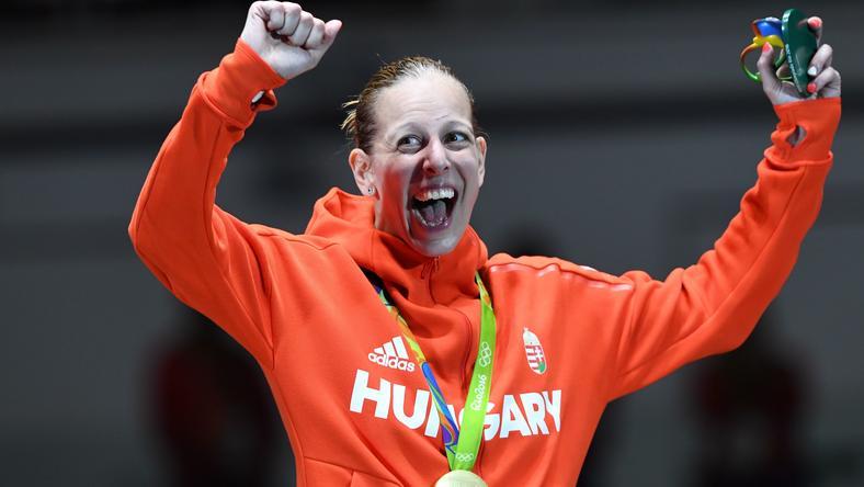 Szász Emese szerezte a magyar küldöttség első aranyérmét /Fotó: AFP
