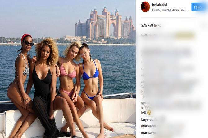 Bela Hadid uživa: I nema šta nije probala!