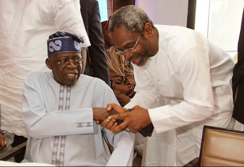 APC National Leader Asiwaju Bola Ahmed Tinubu has congratulated the newly elected presiding officers of the National Assembly, Senator Ahmad Lawan as Senate President and Honourable Femi Gbajabiamila as Speaker House of Representatives [Twitter/@Mr_JAGs]