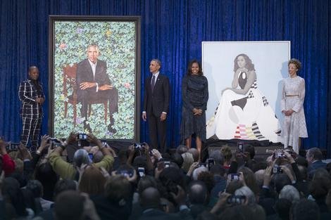 Kehinde Vajli, Varak obama, Mišel Obama i Ejmi Šerald