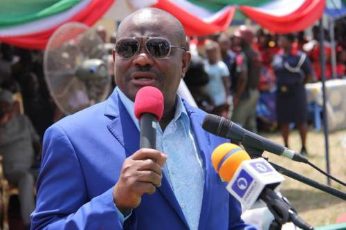 Governor Nyesom Wike of Rivers is a straight-talking badass who gives as good as he receives [Twitter/@GovWike]