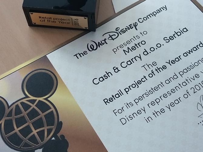 Priznanje za METRO Srbija: Kada Disney prepozna kvalitet