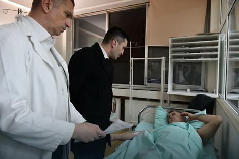 Ministar Đorđević u obilasku povređenih